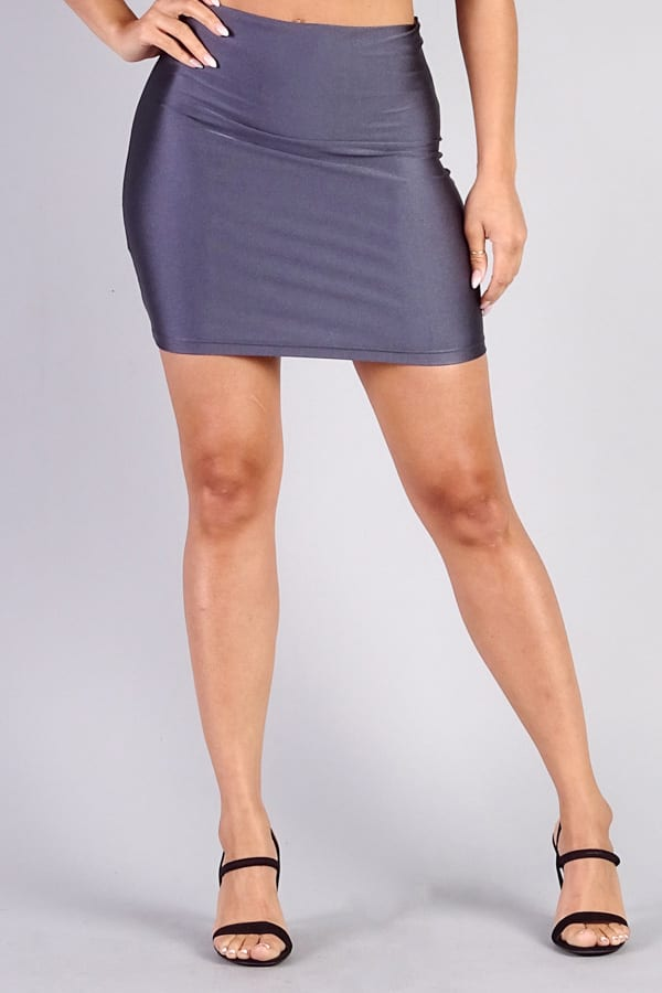 Charcoal Sexy Mini Pencil Skirt