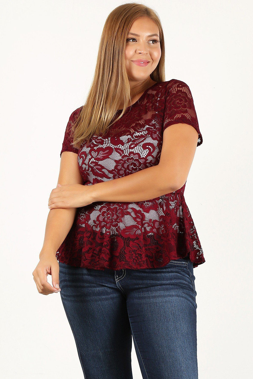 Allover Lace Fitted Top