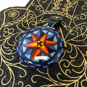 Nautical Star Flip and cut pendant by Takoda Madrona