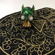 Green stardust Kali Skull by Lee Brodee