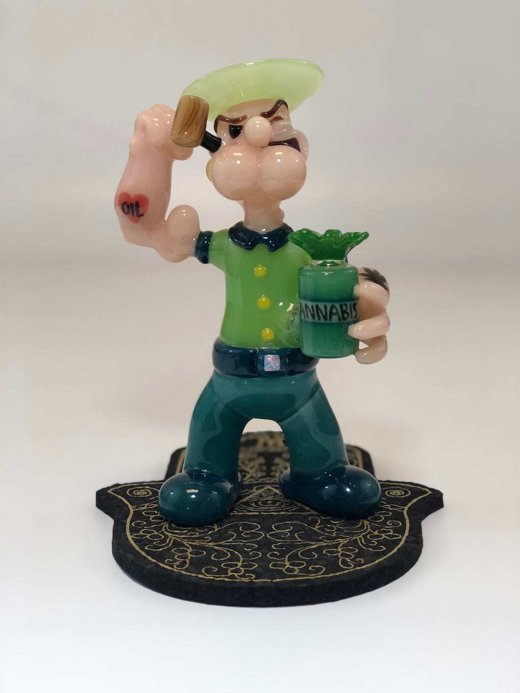 Potpye the sailor man by Jsmart Glass