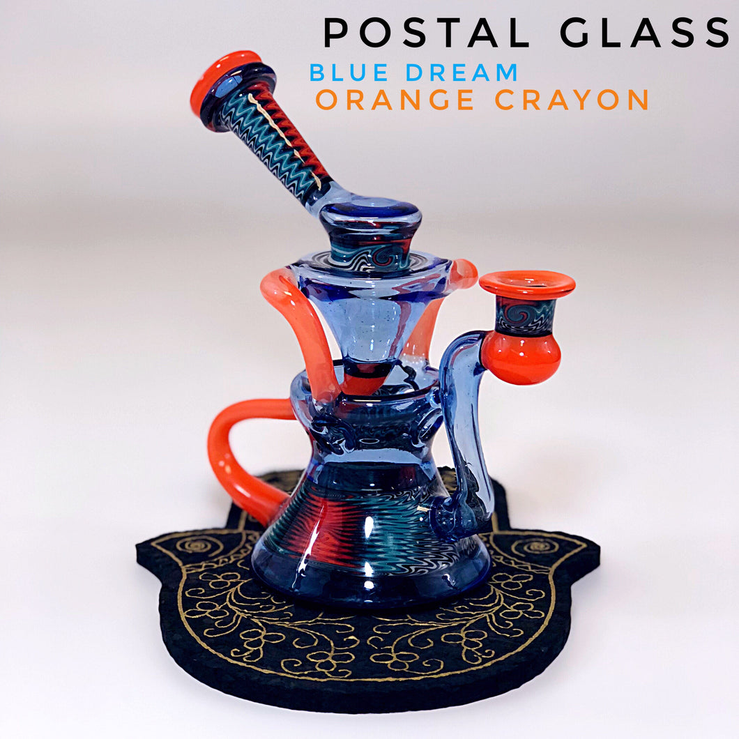 Postal Glass EggCycler in Blue Dream and Orange Crayon