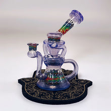 Postal Glass Eggcycler in Purple Gelato CFL and UV reactive