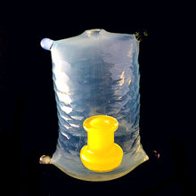 Full CFL reactice Battuto Pillow by Roysco Glass