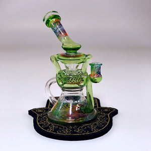 Postal Glass EggCycler in Krippy Green with Luna and Redicolous UV Linework