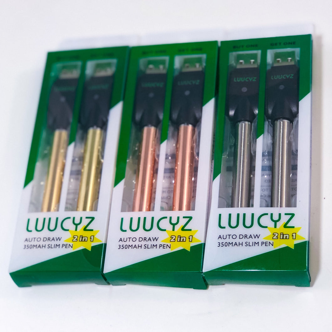LUUCYZ 2 FOR 1 PULL-DRAW VAPE BATTERY