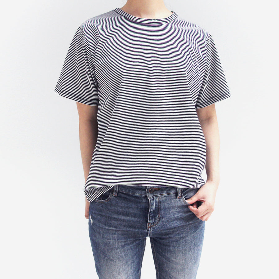 Short Sleeve Stripe T-shirt (black) - Another Great Day