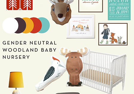 gender neutral woodland baby nursery decor inspiration