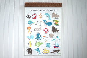 Ocean Explorer Alphabet Wall Art
