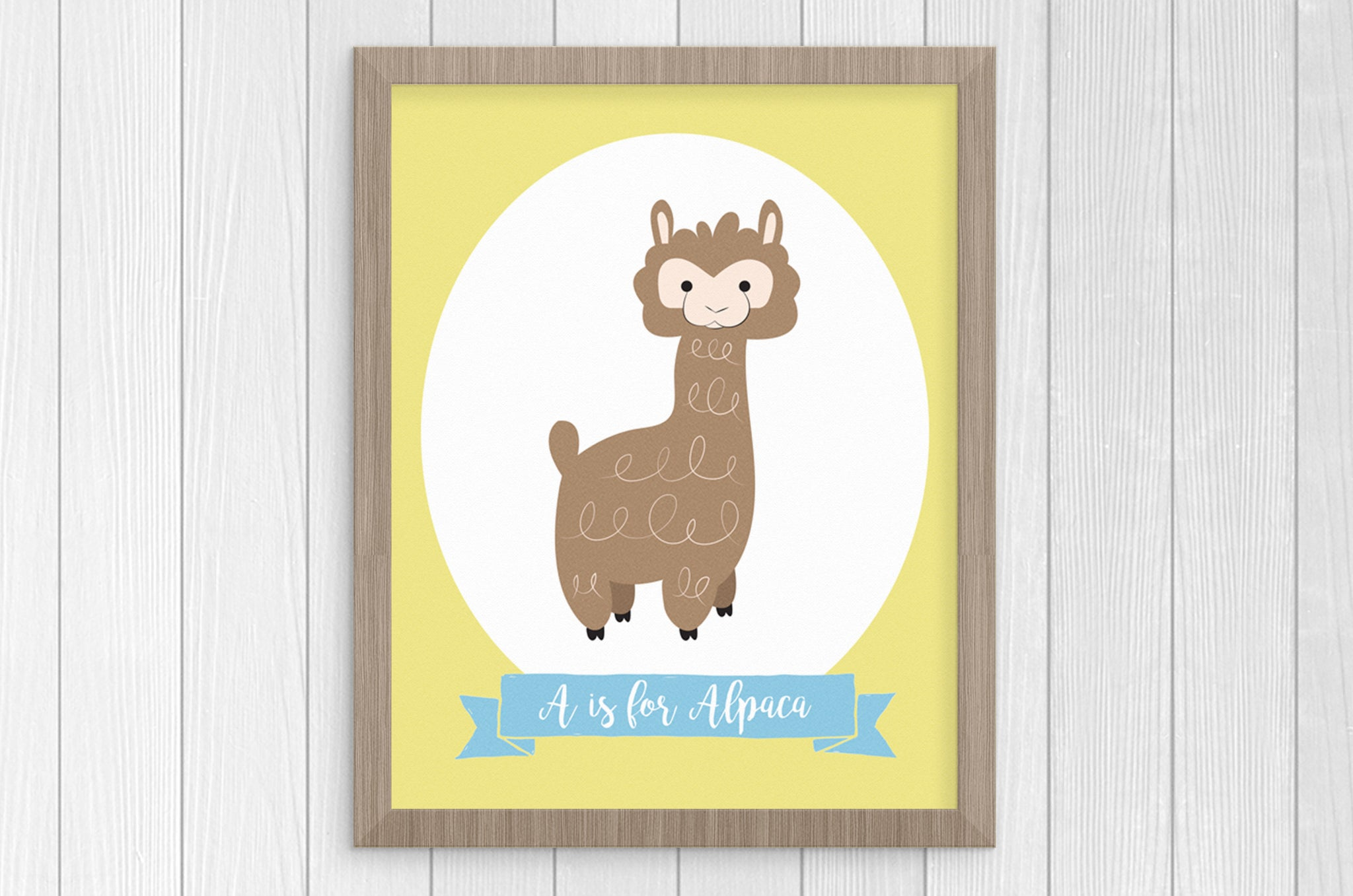 A is for Alpaca 8 x 10 Print