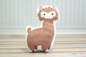 alpaca stuffed animal pillow