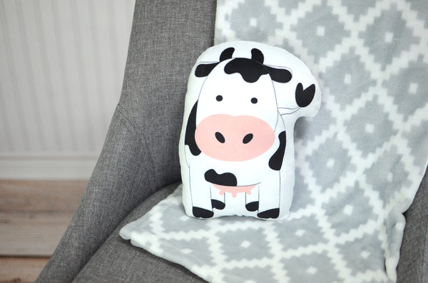 cow plush animal pillow