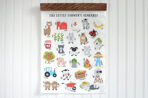 Little Farmer Alphabet Wall Art