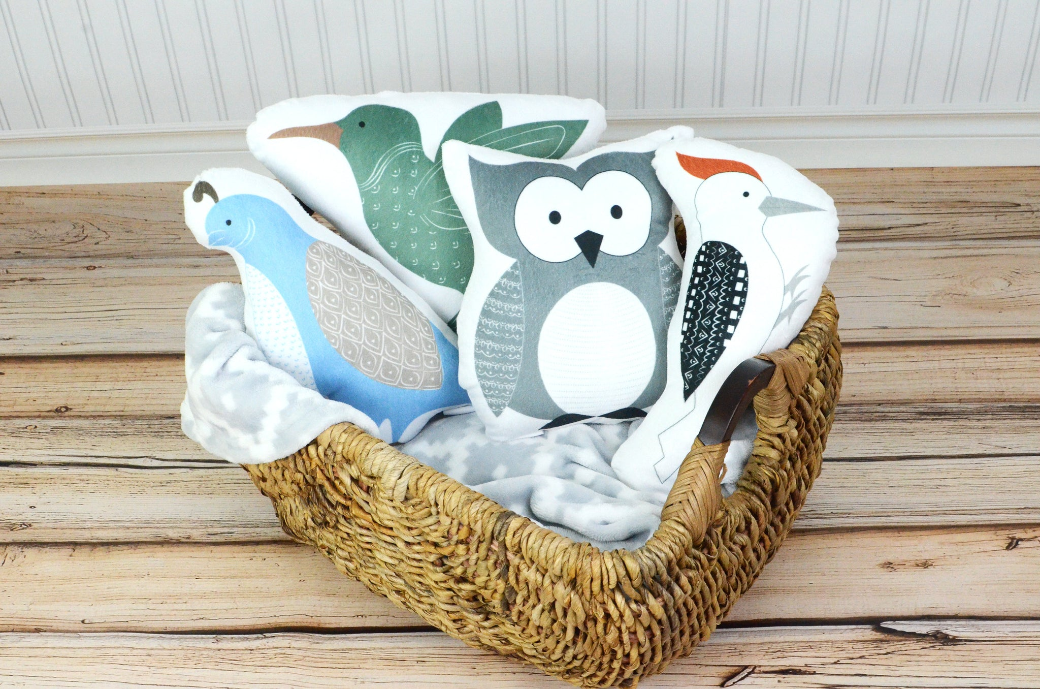 Woodland Set of 4 Animal Pillows, You Choose Styles