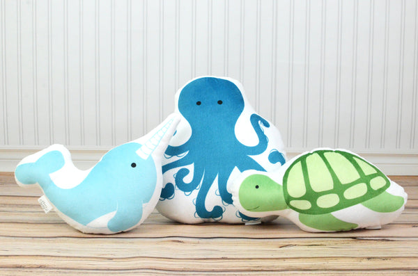 Ocean Set of 3 Pillows, You Choose Styles