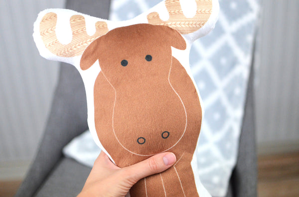 Moose Stuffed Animal Pillow
