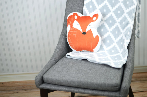 fox stuffed animal pillow