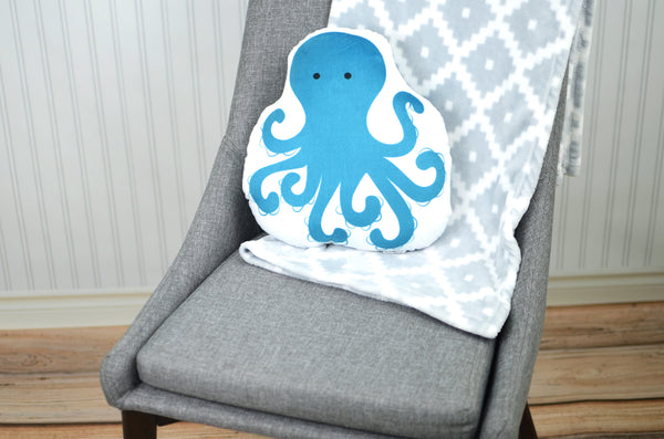 octopus plush animal pillow