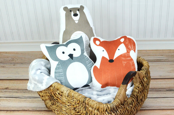 Woodland Set of 3 Pillows, You Choose Styles