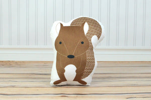 squirrel plush animal pillow