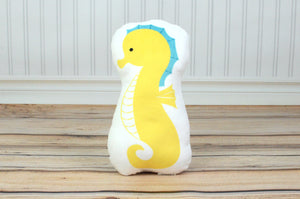 seahorse plush animal pillow