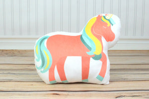 pink unicorn plush pillow