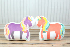 Set of 2 Unicorns Pillows, You Choose Styles