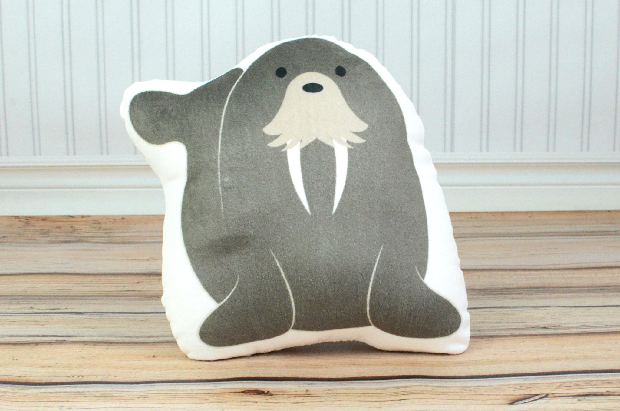 walrus plush animal pillow