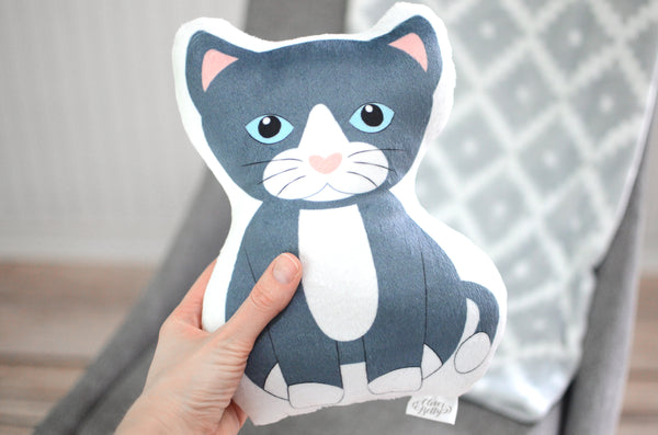 kitten stuffed animal pillow