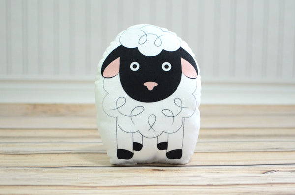 lamb plush animal pillow