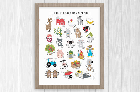 little farmer alphabet 12 x 16 print