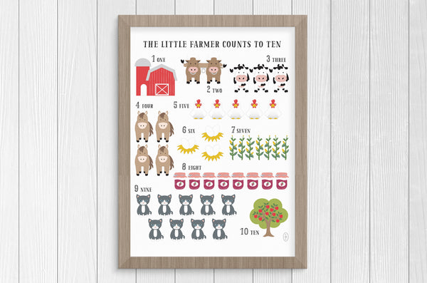 little farmer 12 x 16 print set
