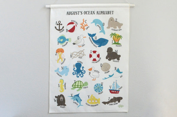 Customized Ocean Alphabet Wall Art