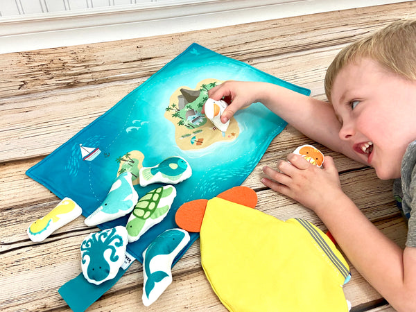 ocean pretend play toy bundle