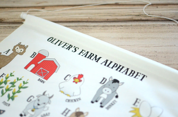 Customized Farm Alphabet Wall Art