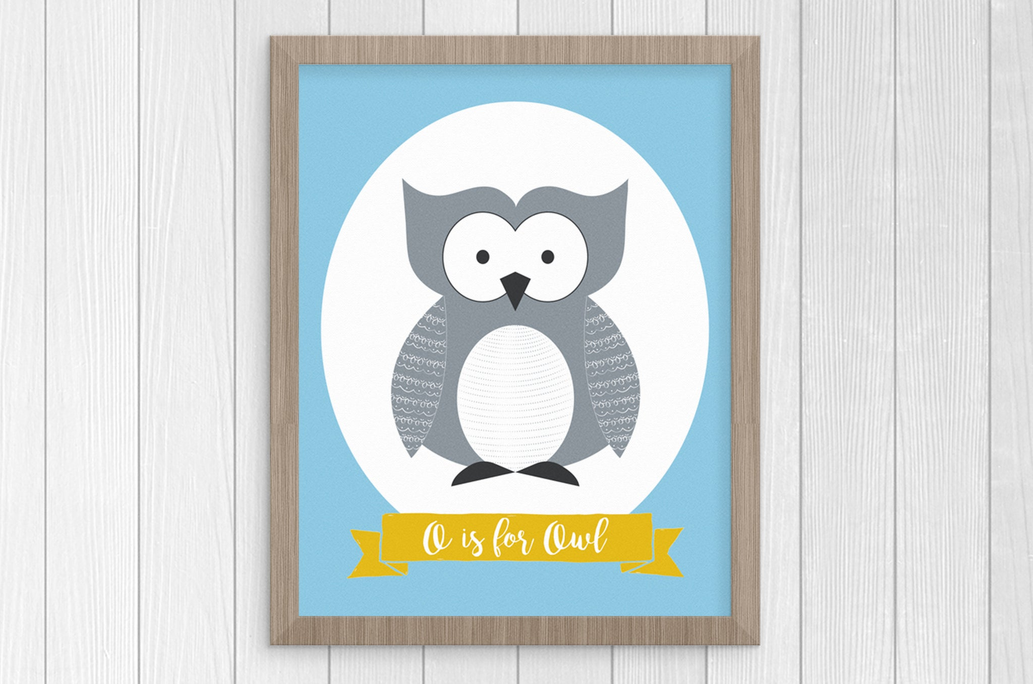 O is for Owl 8 x 10 Print