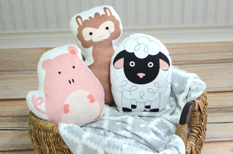 Farm Set of Three Pillows, You Choose Styles