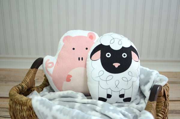 Farm Set of Two Pillows, You Choose Styles