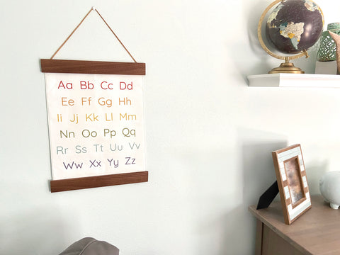 rainbow alphabet wall hanging