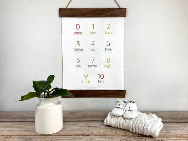 rainbow number wall hanging
