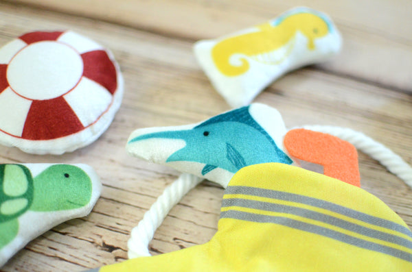 mini ocean plushes and submarine play Set