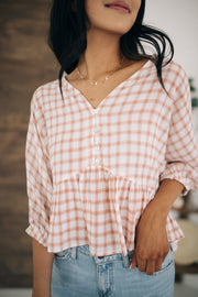 Jackie Plaid Top