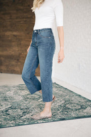 Crosby Wide Leg Cropped Denim