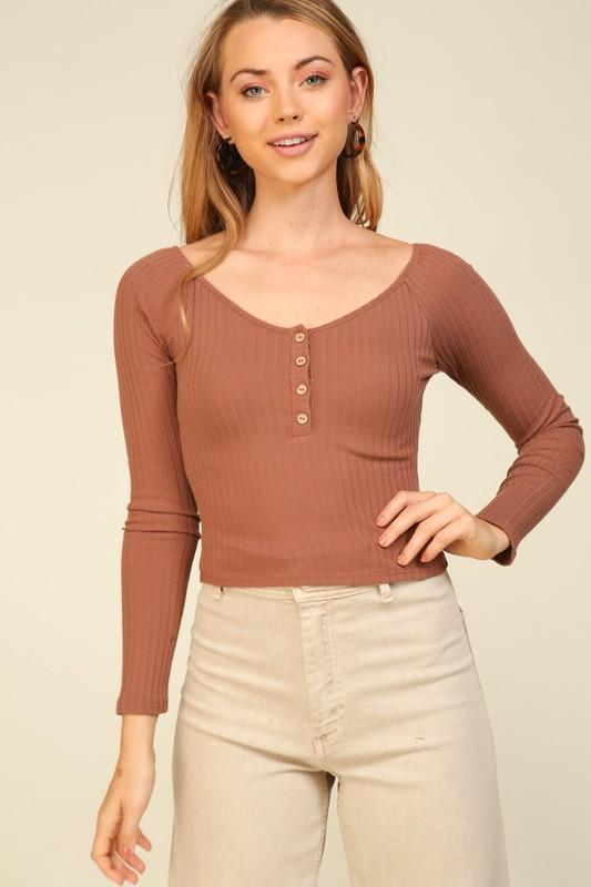 Natalia Ribbed Top