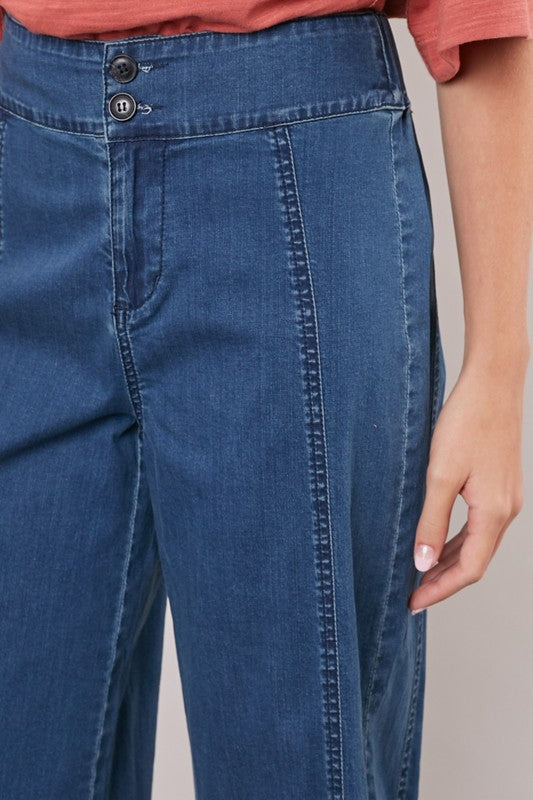 Rockwood Wide Leg Denim Pants