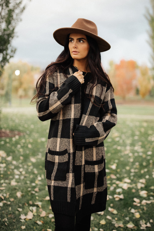 Tess Plaid Cardigan - RESTOCK
