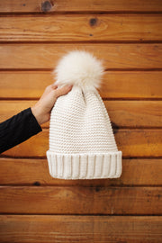 By The Fireside Pom Beanie