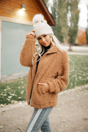 Bronte Sherpa Jacket in Camel