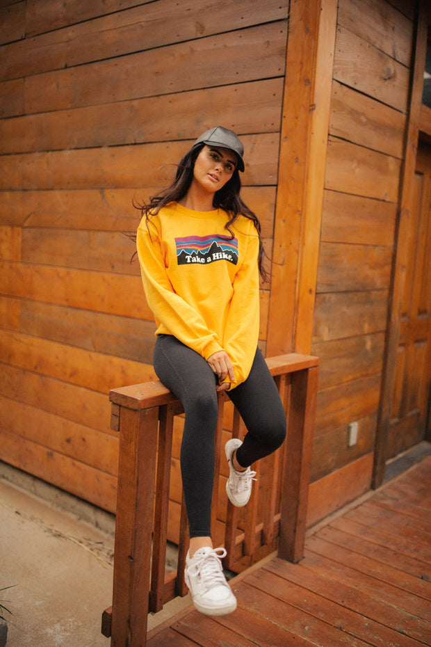 Take a Hike Pullover in Marigold