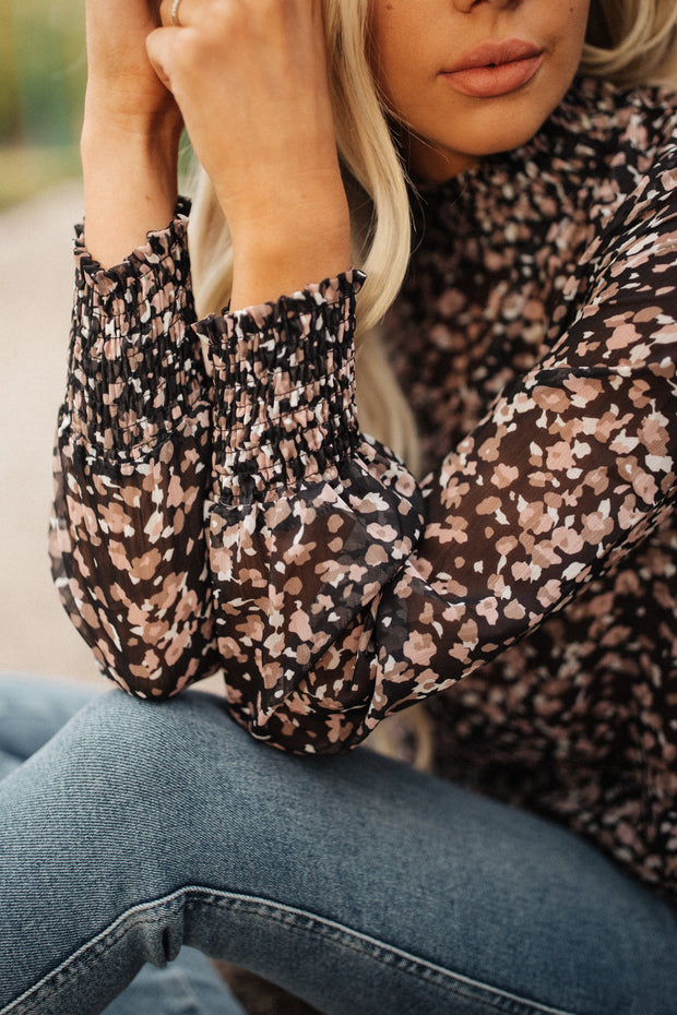Leah Floral Smocked Top